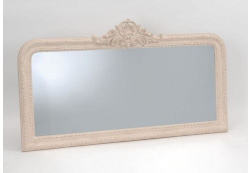 Grand miroir rectangulaire manoir cr me avec n ud 154x86 for Achat grand miroir
