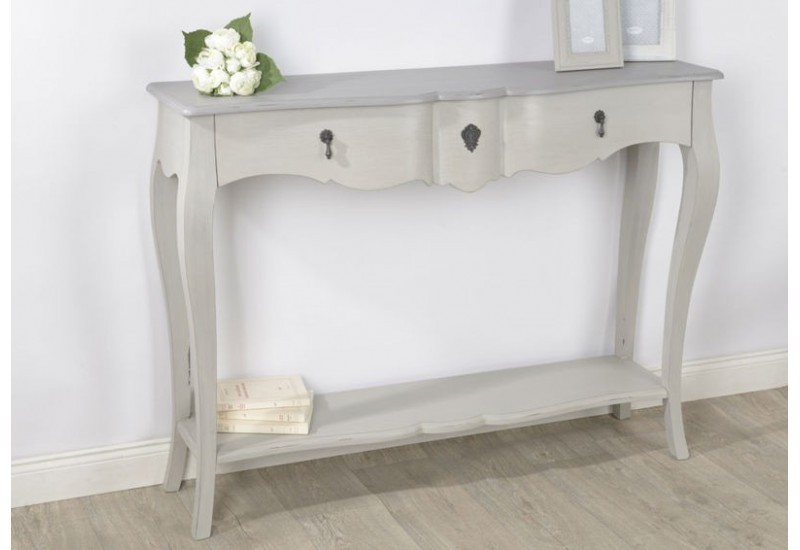 grande console bois c rus taupe gris grand si cle. Black Bedroom Furniture Sets. Home Design Ideas