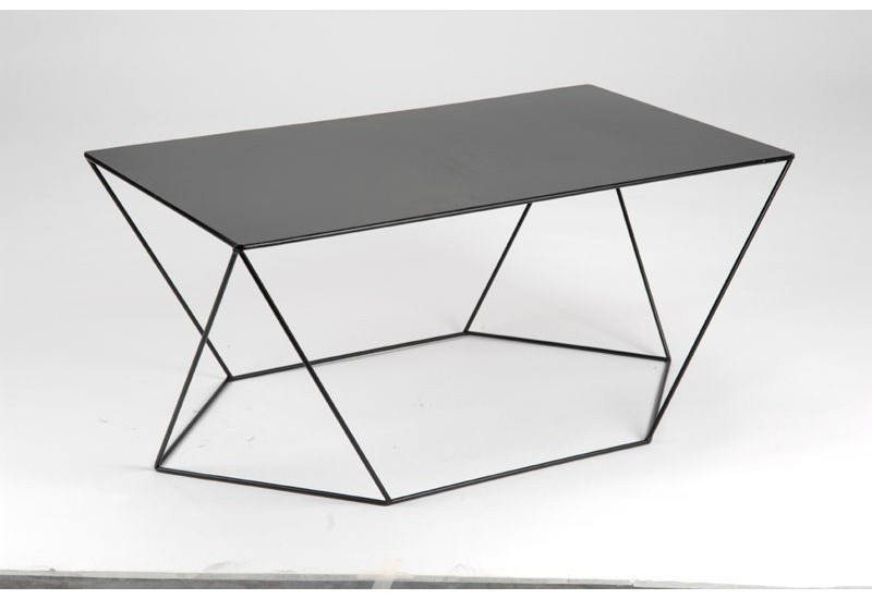 Table basse moderne en m tal noir twist amadeus amadeus 15998 - Table basse metal noir ...