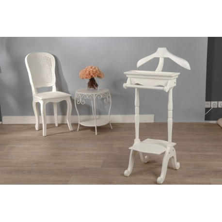 valet de nuit blanc cass en bois shabby chic murano amadeus amadeu. Black Bedroom Furniture Sets. Home Design Ideas