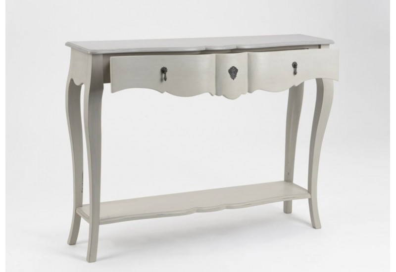 grande console bois c rus taupe gris grand si cle amadeus amadeus. Black Bedroom Furniture Sets. Home Design Ideas