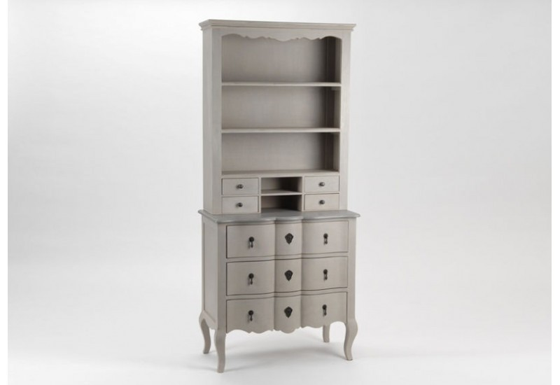 meuble 2 corps buffet bois c rus taupe gris grand si cle amadeus. Black Bedroom Furniture Sets. Home Design Ideas