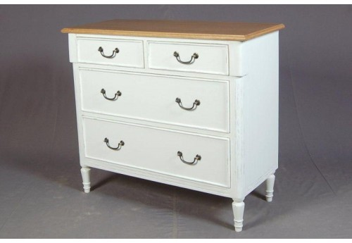 Commode 4 Tiroirs Blanc New Pauline Amadeus