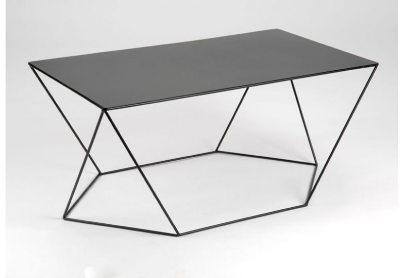 table basse metal noir hoze home. Black Bedroom Furniture Sets. Home Design Ideas