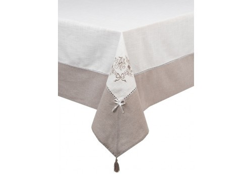 Nappe rectangulaire 150x250 brodee marquise ALIZEA