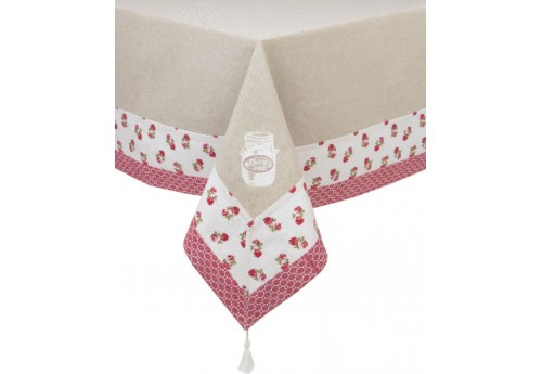 Nappe 150x200 brodee lalie ALIZEA