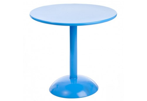 Table Ronde  Pop Métal Bleu 80Cm J-Line