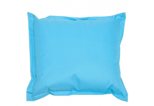 coussin de sol en polyester bleu turquoise 45x45cm j line j line by. Black Bedroom Furniture Sets. Home Design Ideas