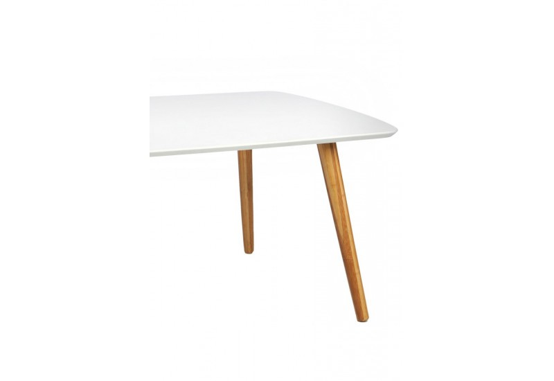 Table basse scandinave rectangulaire en bois blanc et - Table basse en bois naturel ...