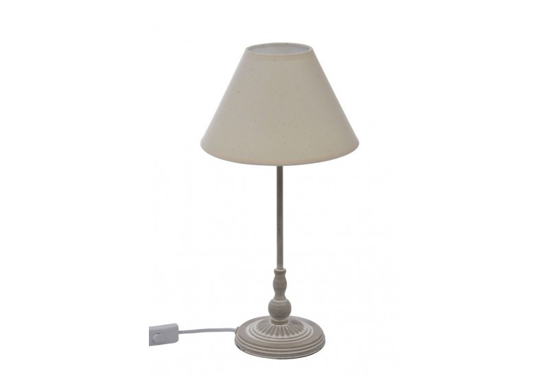 lampe de chevet charme en m tal et abat jour beige 22x9x44cm j line. Black Bedroom Furniture Sets. Home Design Ideas
