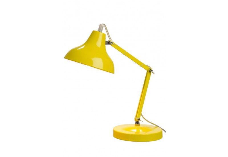 lampe de bureau moderne en m tal jaune 15x26cm j line j. Black Bedroom Furniture Sets. Home Design Ideas