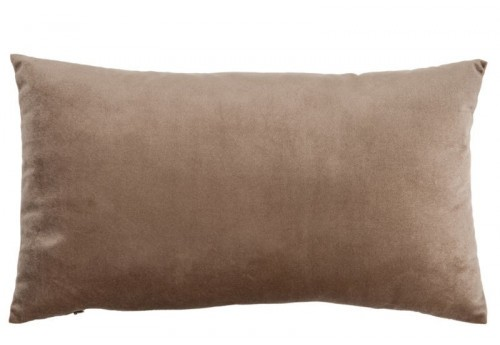 Coussin Velours Taupe 50X30Cm J-Line