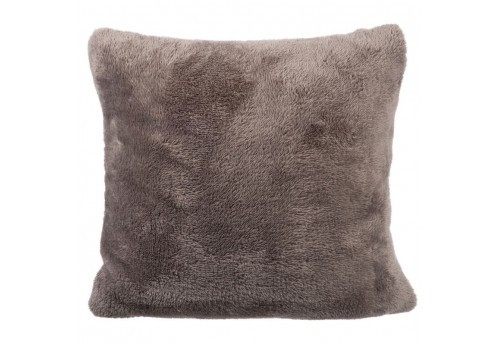 Coussin Polyester Taupe Fonce 40X40X10Cm J-Line