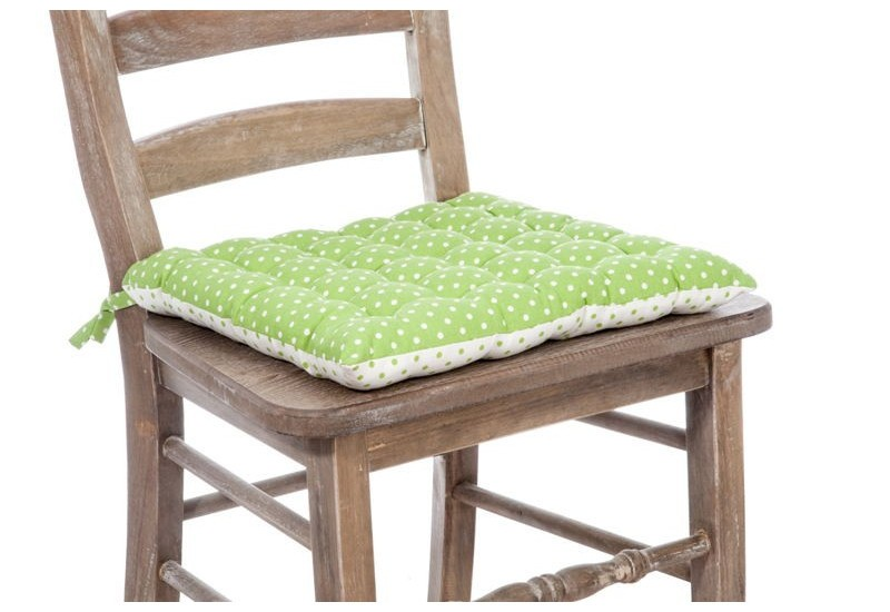 galette chaise poules blanc et vert 40x40cm j line j line by jolipa. Black Bedroom Furniture Sets. Home Design Ideas