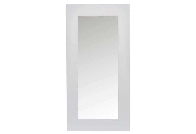 Miroir moderne laqu rectangle en bois blanc 120x2x60cm j for Miroir blanc laque
