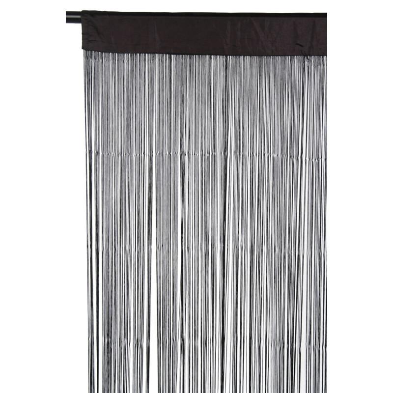 rideau fils noir 110x250cm j line j line by jolipa jl 67958