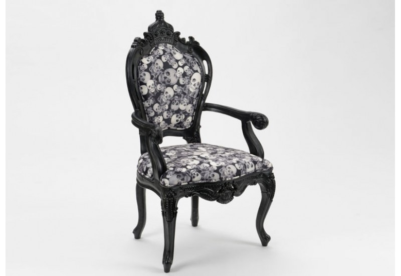 fauteuil t tes de morts original noir amadeus amadeus 16086. Black Bedroom Furniture Sets. Home Design Ideas