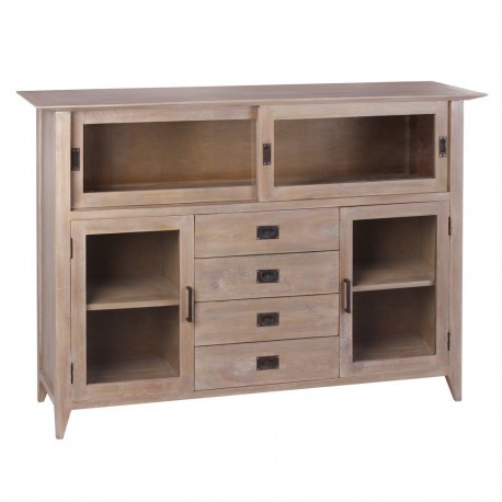 Buffet style coloniale 4 tiroirs en bois naturel mindi by auxportes - Buffet style colonial ...