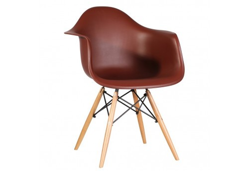 Fauteuil Scandinave En Polypropyl¨ne Marron By Auxportesdeladeco Ai