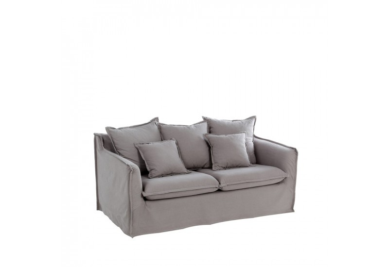 canap 2 places cocooning en tissus gris by auxportesdeladeco aixi. Black Bedroom Furniture Sets. Home Design Ideas