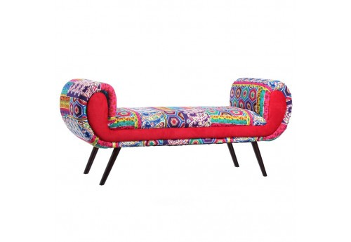 Banquette Patchwork Multicolore By Auxportesdeladeco