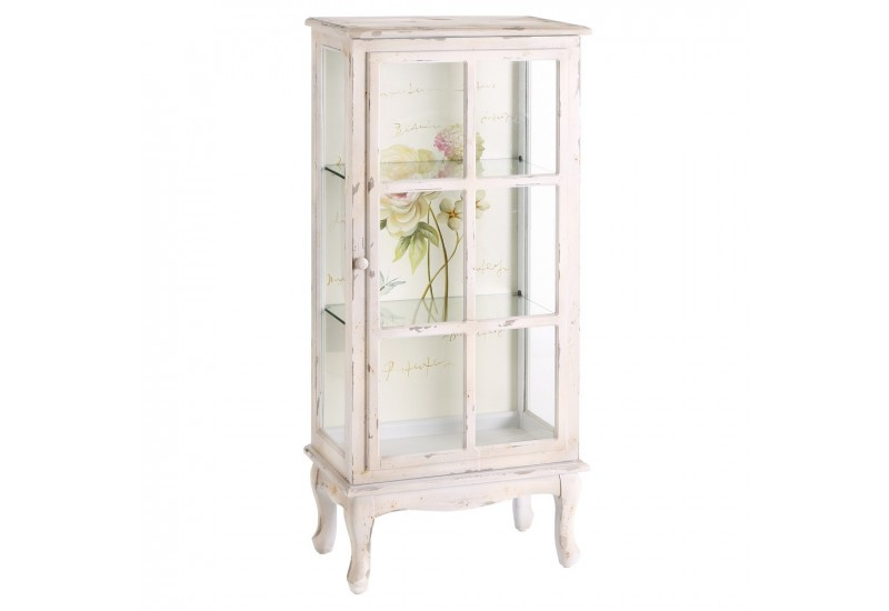 petite vitrine avec un fond fleurs blanche by auxportesdeladeco aux. Black Bedroom Furniture Sets. Home Design Ideas