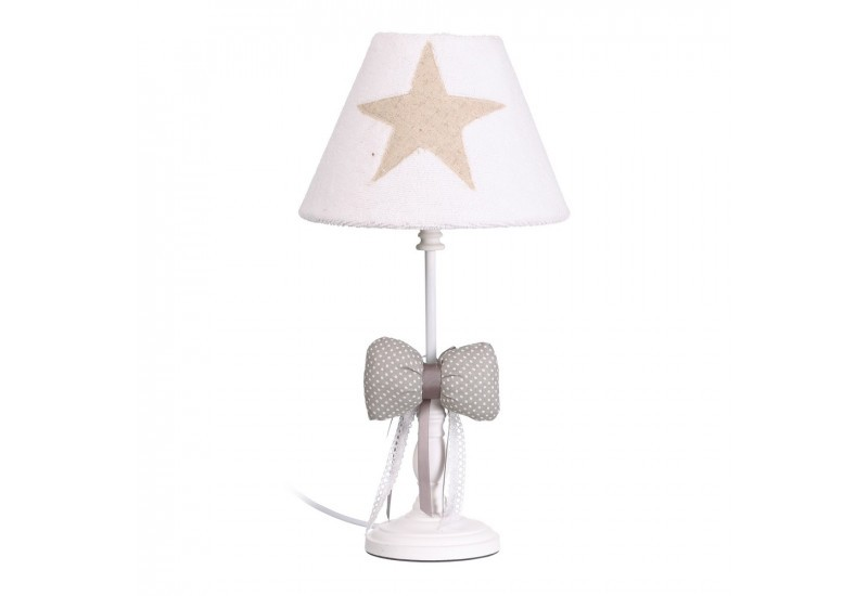 lampe de chambre d 39 enfant toile blanche by auxportesdeladeco aixi. Black Bedroom Furniture Sets. Home Design Ideas