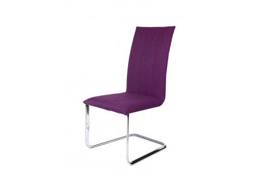 chaise tra neau tissu violet en polyester by auxportesdeladeco aixi. Black Bedroom Furniture Sets. Home Design Ideas