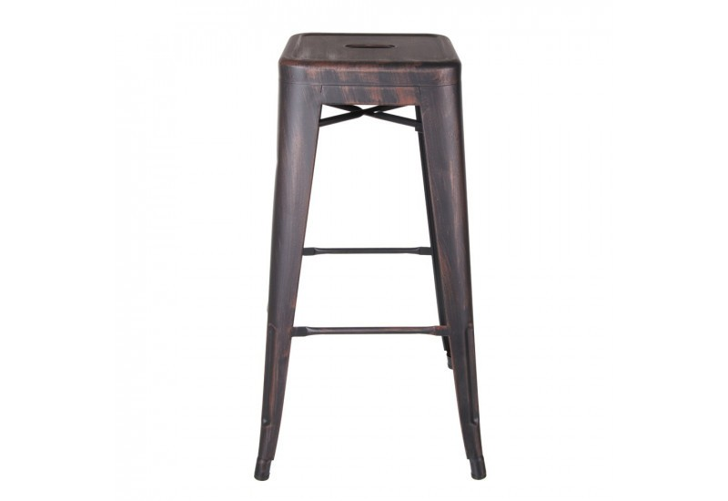 tabouret de bar industriel en m tal noir or dallas by auxportesdela. Black Bedroom Furniture Sets. Home Design Ideas