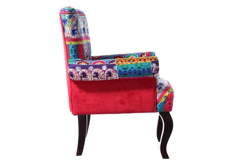 Fauteuil Patchwork Multicolore By Auxportesdeladeco Aixi