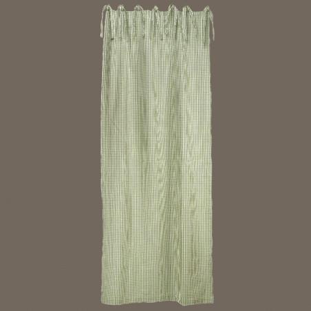 Rideau vichy vert 250x110