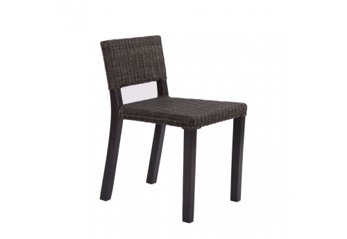 chaise rotin noir style colonial Vical Home
