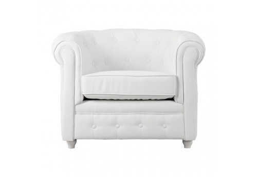 chesterfield en tissus blanc chic Vical Home