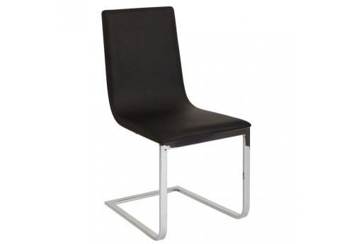 chaise design moderne noir et chrome Vical Home