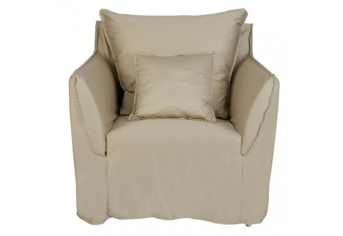 fauteuil chic intemporel en tissus taupe Vical Home