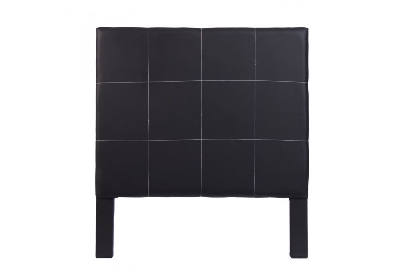 t te de lit 1 personne en tissus carreaux noir chic. Black Bedroom Furniture Sets. Home Design Ideas