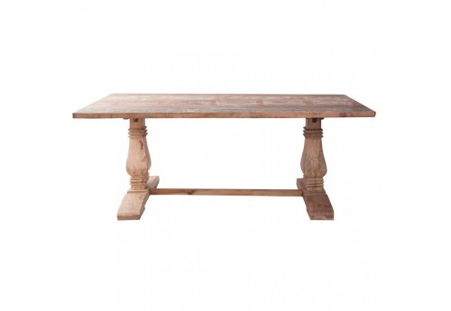 table à manger de charme patine vieilli en bois multicolore Vical Home