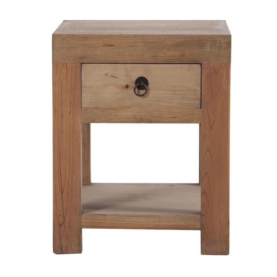 table chevet bois brut. Black Bedroom Furniture Sets. Home Design Ideas
