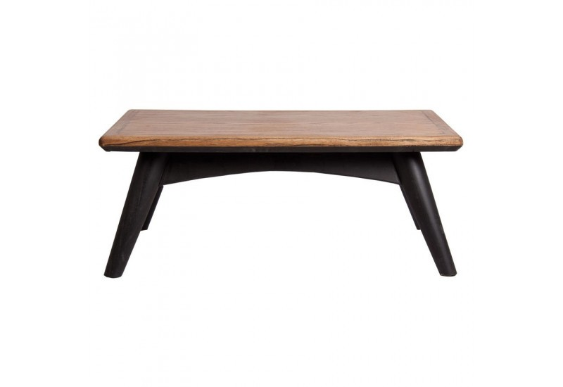 Table basse scandinave rectangulaire vein en bois naturel for Table basse noir scandinave