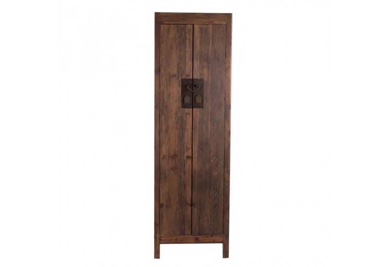 armoire asiatique en bois naturel 2 portes vical home vical home 17965. Black Bedroom Furniture Sets. Home Design Ideas