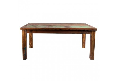 table à manger vintage en bois acajou rectangulaire multicolore Vical Home