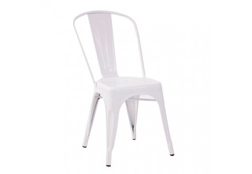 chaise bistrot vernis blanc Vical Home
