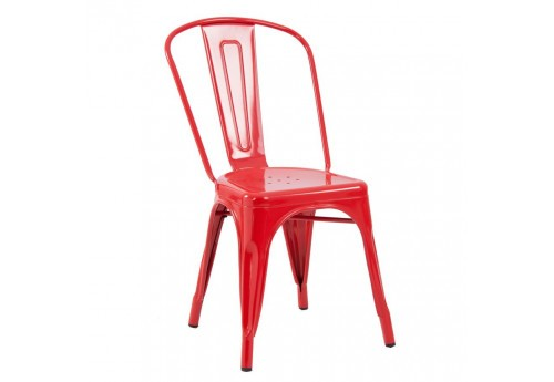chaise bistrot vernis rouge Vical Home