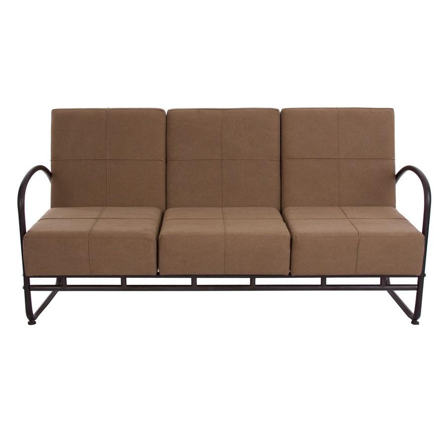 canapé 38 places industriel structure en métal marron et fauteuil en... - Canapé Industriel