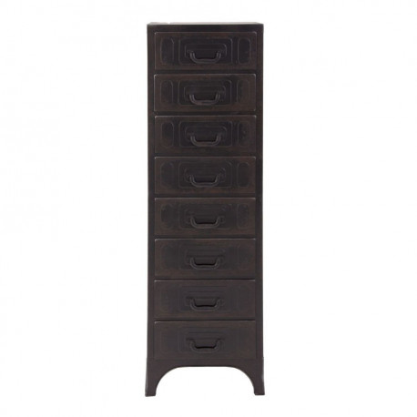 chiffonnier industriel 8 tiroirs en m tal noir vical home. Black Bedroom Furniture Sets. Home Design Ideas