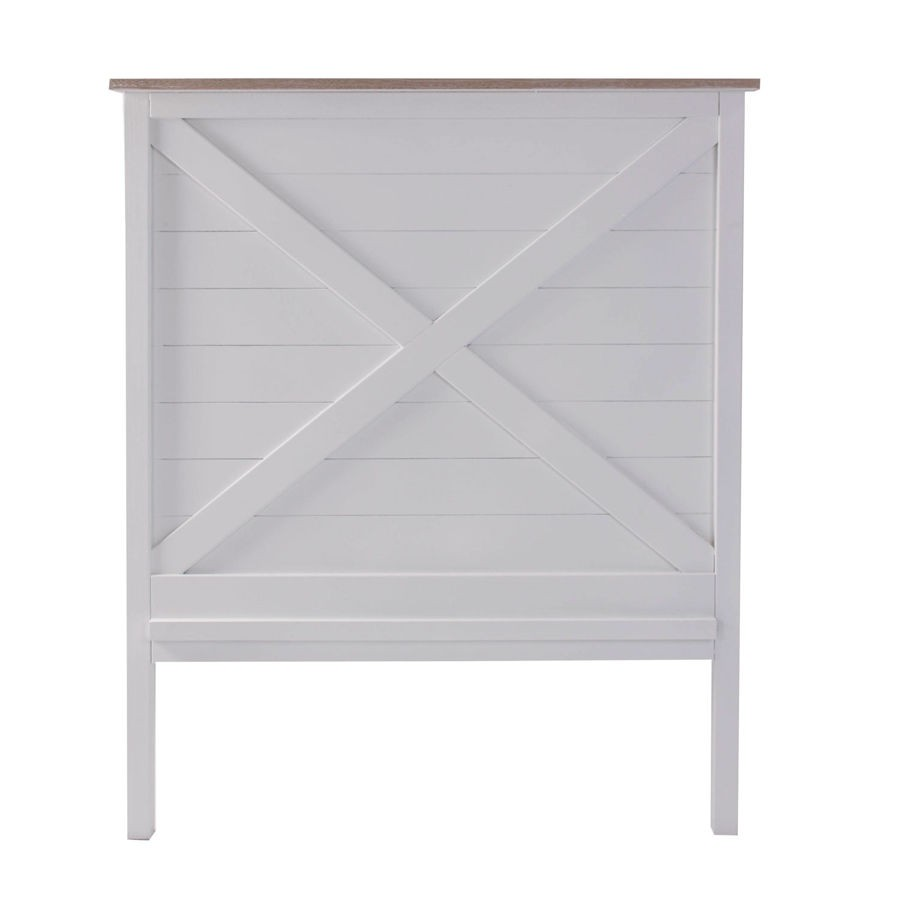 tête de lit naturellement chic en bois blanc et corniche bois brut ... - Tete De Lit En Bois Blanc