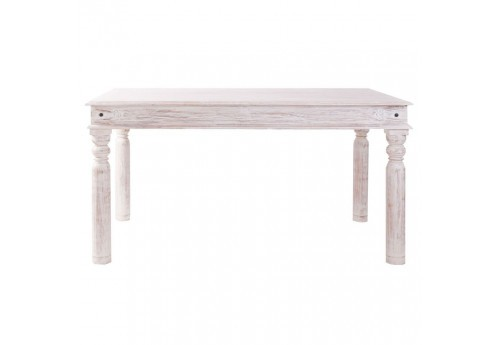 table rectangulaire en bois blanchie campagne  Vical Home