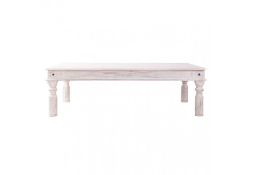 table basse rectangulaire en bois blanchie campagne  Vical Home