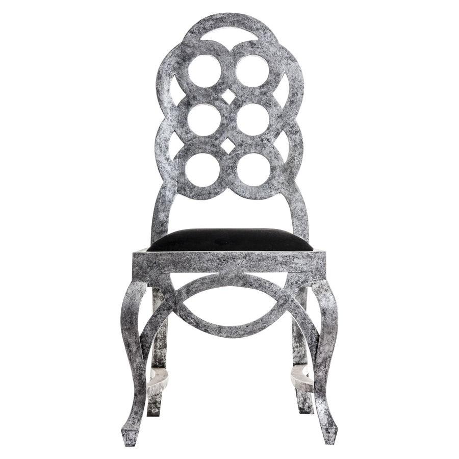 Chaise Baroque Grise Avec Une Assise Noire Vical Home VH