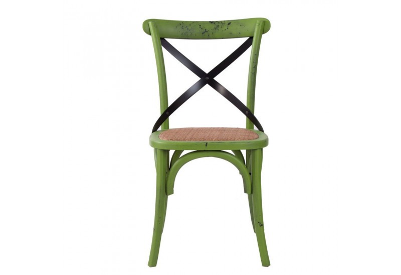 chaise bistrot boh me chic vert vical home vical home 17870. Black Bedroom Furniture Sets. Home Design Ideas